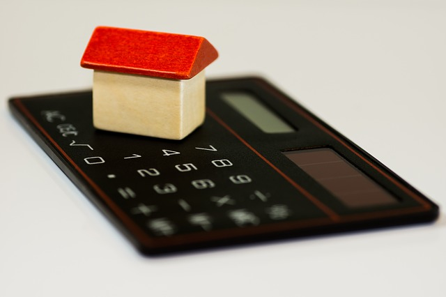 A small house on a calculator