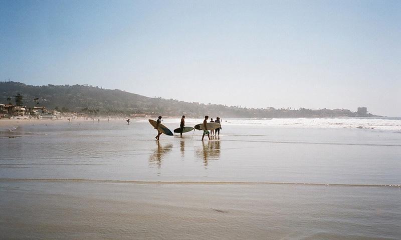 San Diego Surfers on the Beach