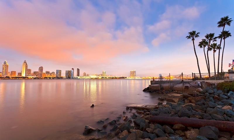 San Diego Skyline Sunset