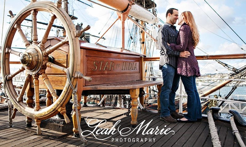 Couple Photography on The Star Of India at Waterfront Park