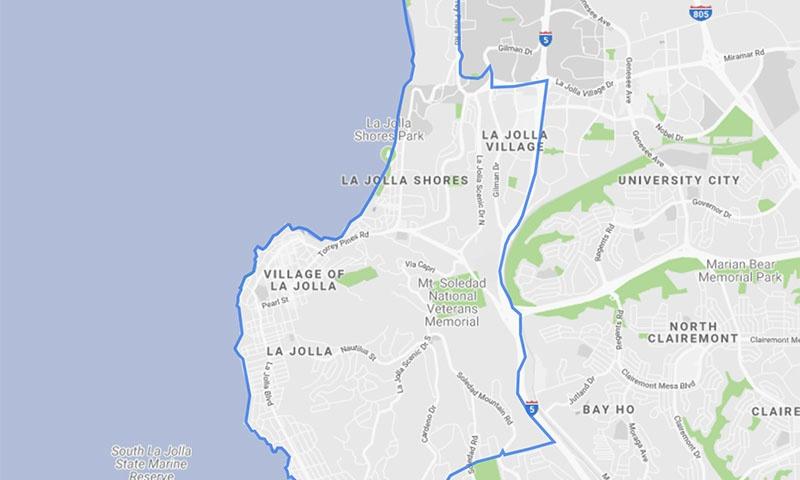 Area map of La Jolla