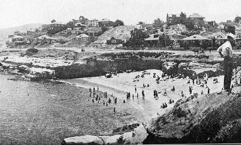 Historical image of La Jolla beach circa 1908