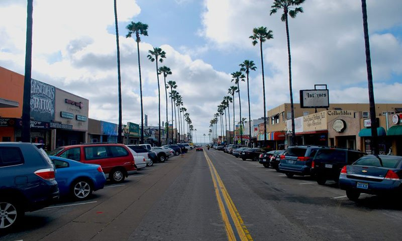 Street View of New Port Ave in Ocean Beach San Diego