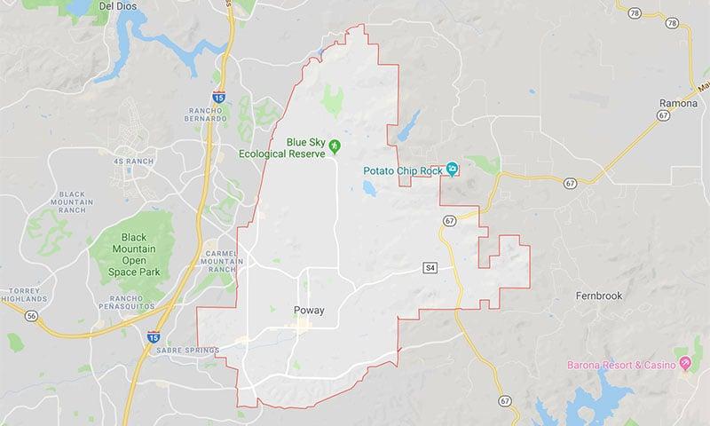 Poway-Area-Map