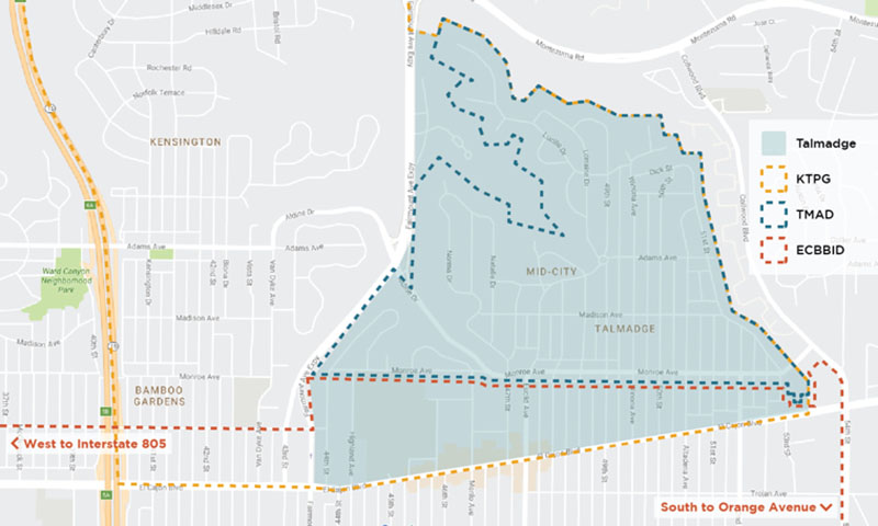 talmadge-area-map