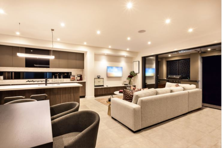 Interior home with upgraded lighting