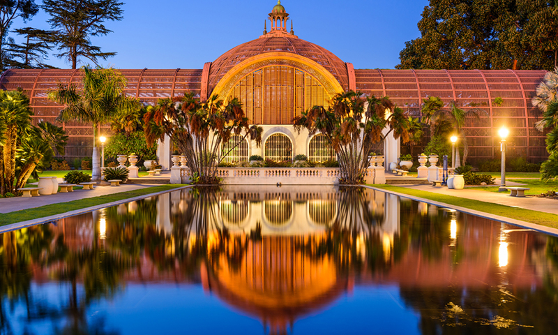 the pond at Balboa Park in San Diego