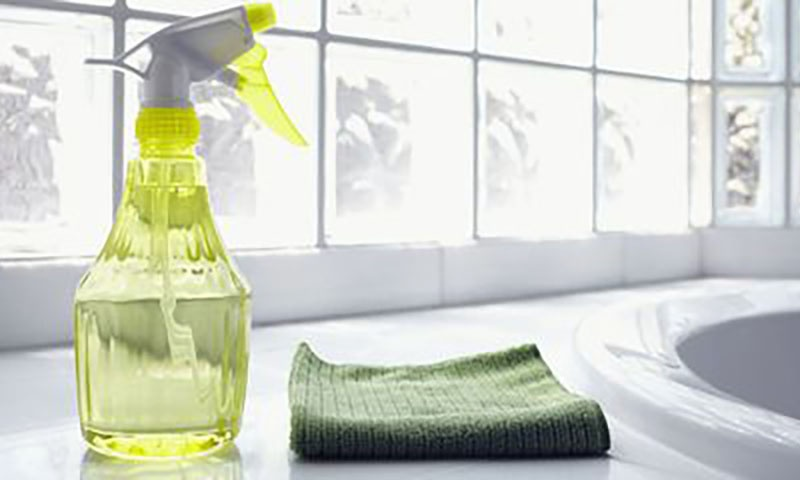 Cleaning Supplies In Home Bathroom