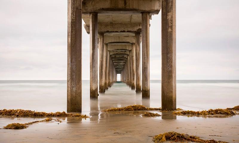 Scripps Pier is the perfect photo spot in La Jolla San Diego