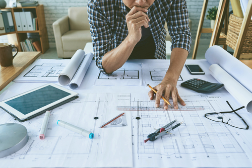 Planning for home improvement man thinking