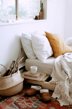 storage bed and pillow ideas